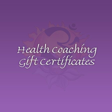 Health Coaching Gift Certificates